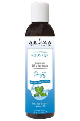 Aroma Naturals Extraordinary Body Oil Menthol & Icy Hot Herbs Sports Rub Therapeutic Massage Oil - Aroma Naturals масло освежающее для массажа тела