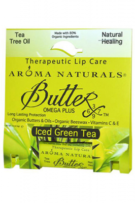Aroma Naturals Therapeutic Lip Care Butter-X Iced Green Tea - Aroma Naturals бальзам для губ со вкусом зеленого чая